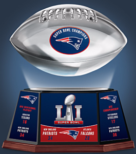 Patriots Levitating Football