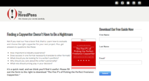 Here's a landing page for one of our e-books.