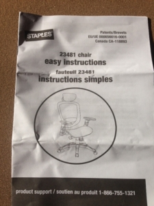 Staples assembly instructions