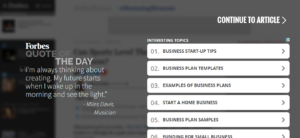 How to Write a Business Plan - Interstitial
